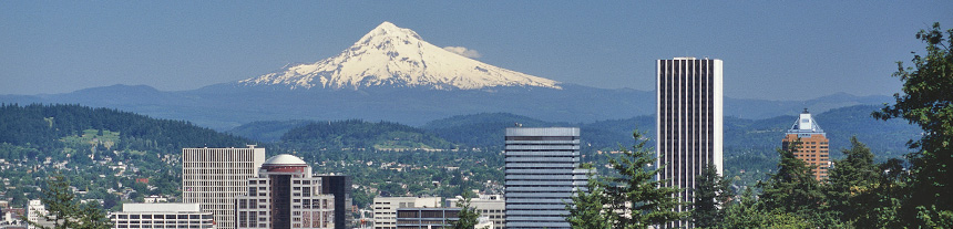 Mt. Hood and downtown Portland, Oregon